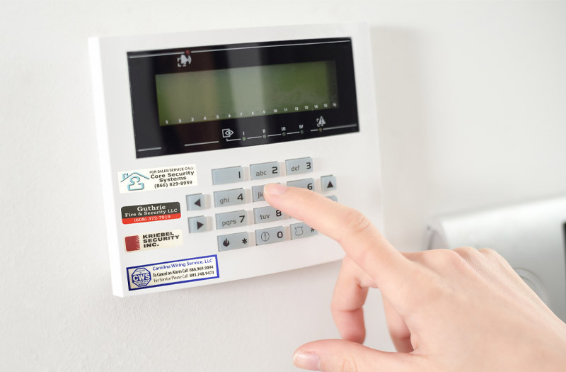 alarm keypad decals
