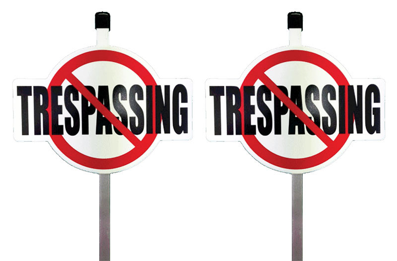 No Trespassing Yard Sign
