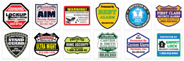 Select a shape for your Security  Stickers or Signs
