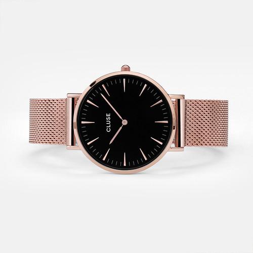 96522ab71d7 CLUSE La Boheme Mesh Rose Gold Black CL18113 - Heart and Grace Pty Ltd