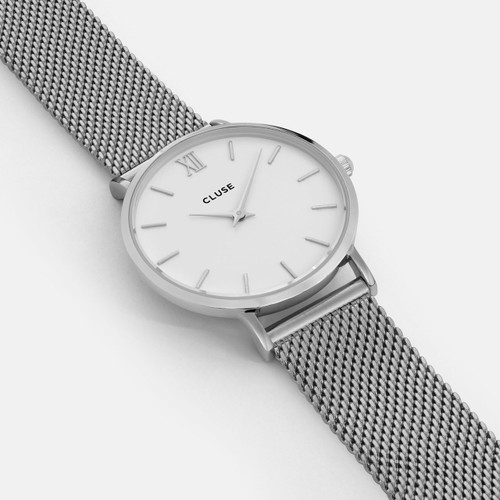 CLUSE Minuit Mesh Silver White CL30009 - Heart and Grace Pty Ltd ab0714e1944