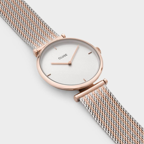 CLUSE Triomphe Rose Gold Bicolour Mesh - Heart and Grace Pty Ltd be3bdc8c70f