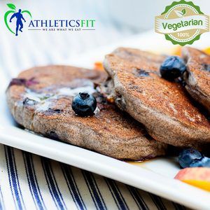 Organic High Protein Blueberry Buckwheat Pancakes