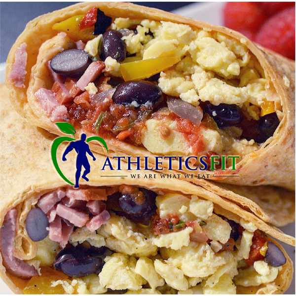 High Protein and Fiber Breakfast Wrap