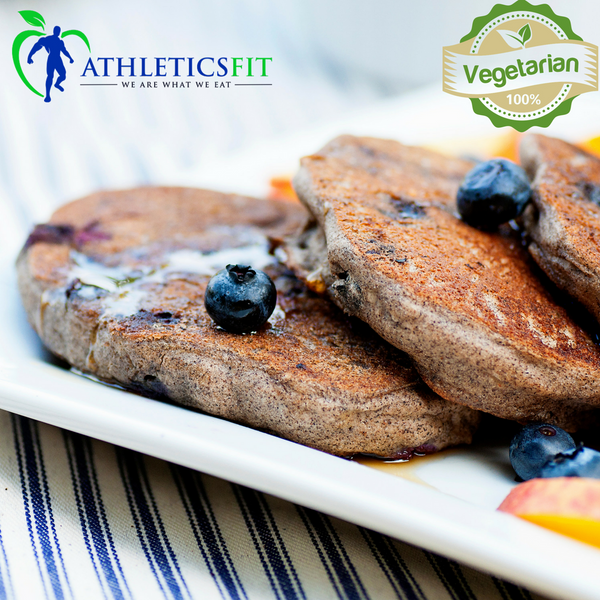 Organic High Protein Blueberry Buckwheat Pancakes