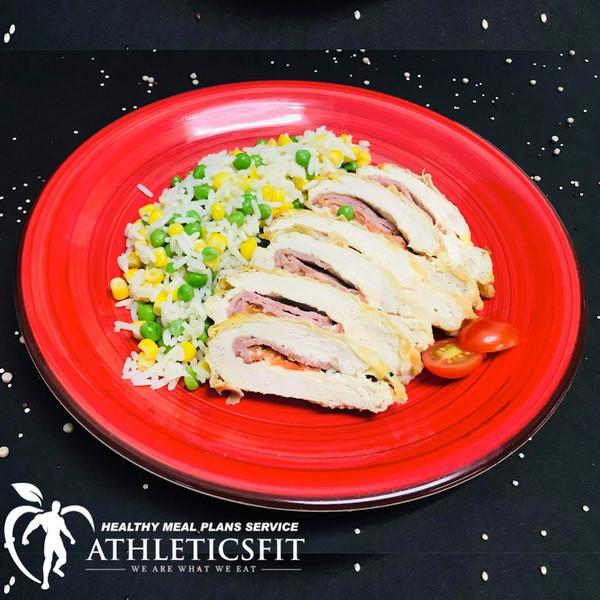 Our Healthy Chicken Cordon Bleu.
