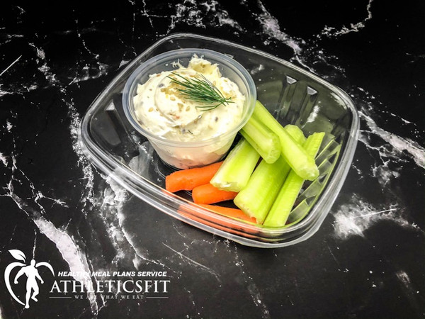 Celery sticks and cream cheese