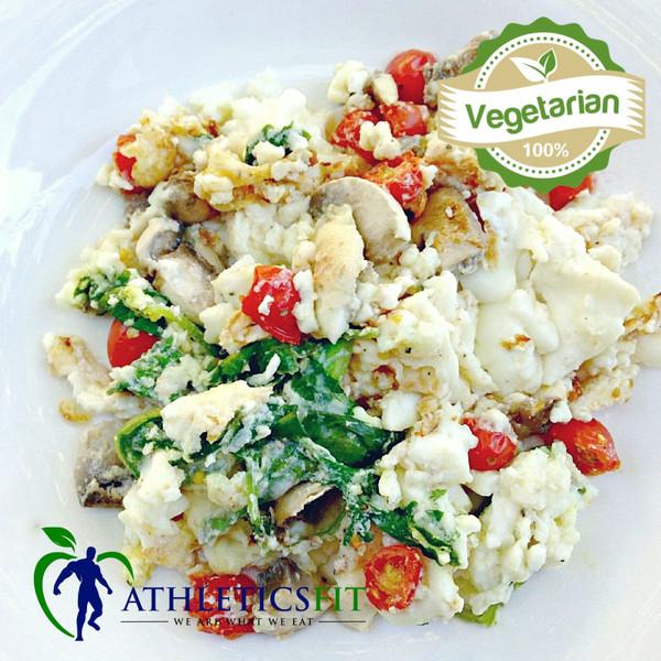 6 Egg White Vegetables Omelette