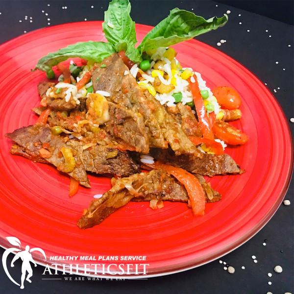 Basil Cherry tomato  Lean Flank Steak