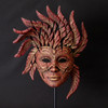 Venetian Carnival Mask (Red and Gold)- Edge Sculpture