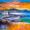 A Jura Sunset from Port Nan Gallan, Keills (Large) - Mounted