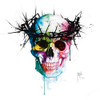 Jesus Skull (Print Only) Authorised Edition by Patrice Murciano