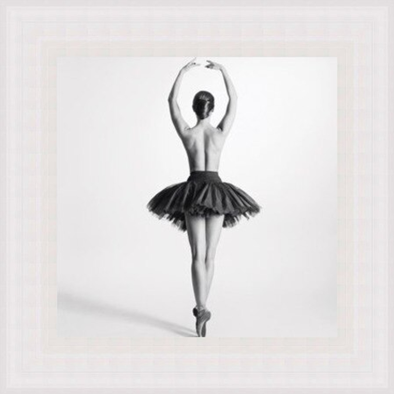 Ballerina Pirouette Black And White