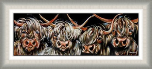 Four Highland Lads by Elaine Johnston - Ex Large