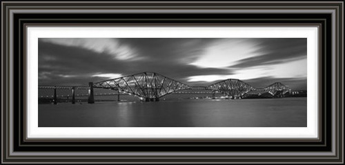Forth Bridges - Black and White (Large)