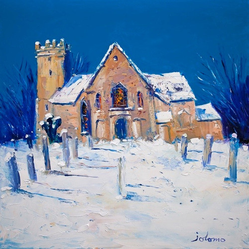 Heavy Snowfall, Cramond Kirk (Print Only) Authorised Edition