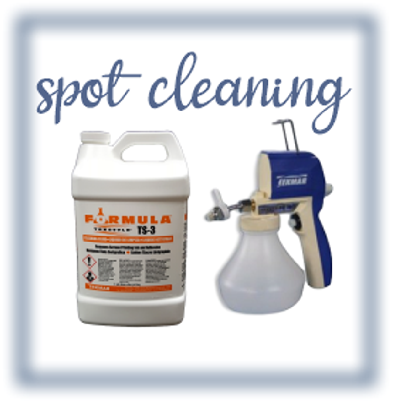 Spot Cleaning Chemicals & Equipment