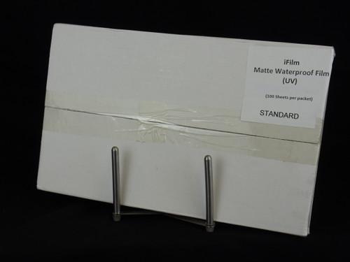 """Standard Waterproof Inkjet Film - 8.5"""" x 14"""" Box: 100 sheets"""