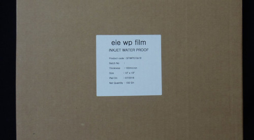 "Premium Waterproof Inkjet Film 13"" x 19"" 100 sheets/box"