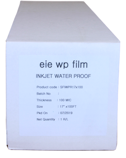 "Premium Waterproof Inkjet Film 17"" x 100' roll"
