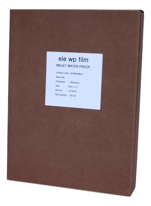 "Premium Waterproof Inkjet Film 8.5"" x 11"" 100 sheets/box"