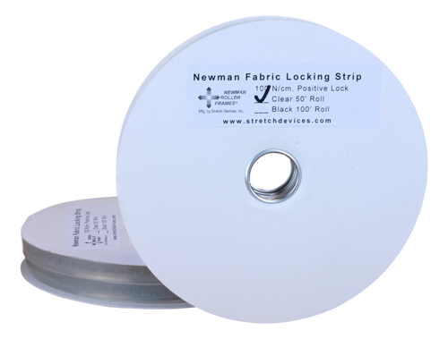 Stretch Devices - Newman Locking Strip (Clear) 50 ft roll