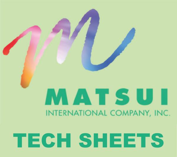 Matsui Tech Sheets