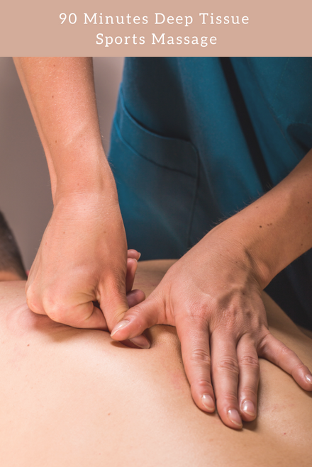 90 Minutes Deep Tissue Sports Massage