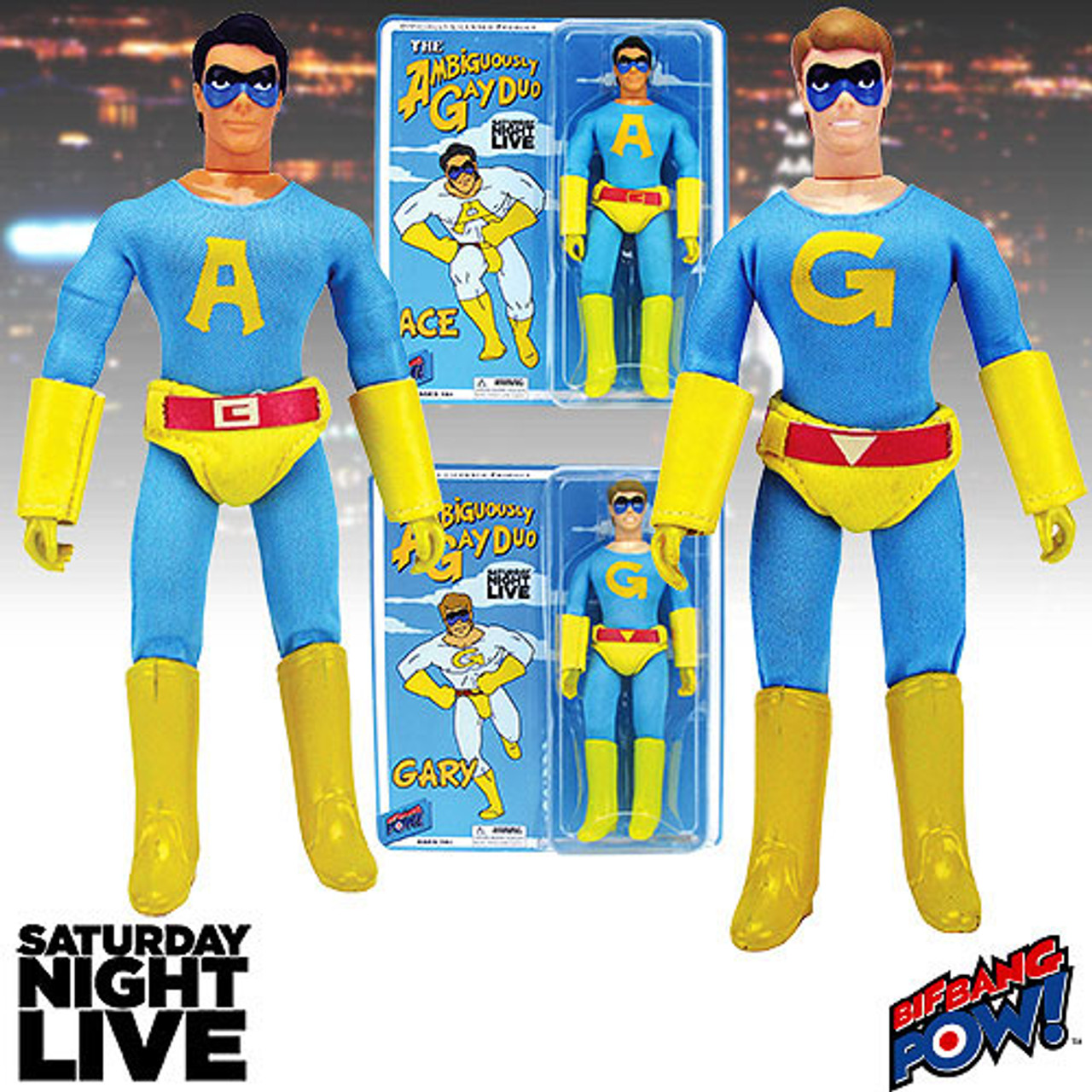 "Saturday Night Live le Ambiguously Gay Duo Ace 8/"" Action Figure"