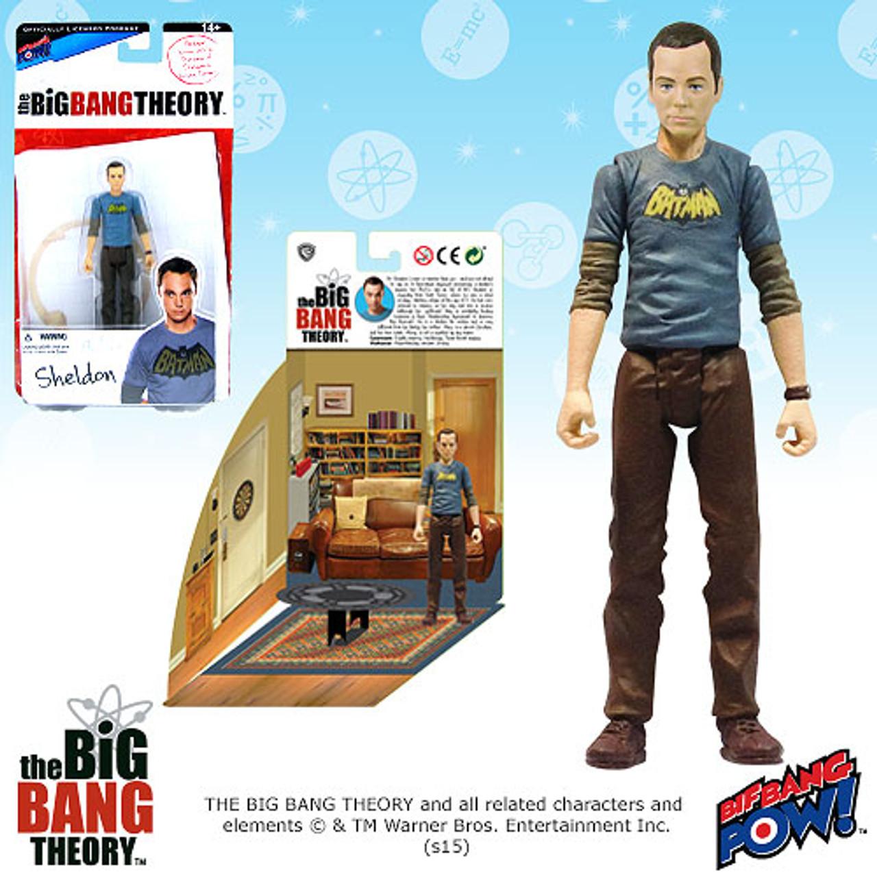 Con Excl Action Figures Bif Bang Pow The Big Bang Theory Star Trek Sheldon 3 3//4-Inch Fig