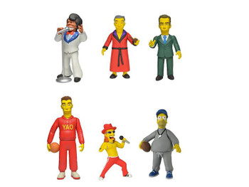 Simpsons 25th Anniversary 5-Inch Celebrity Guest Stars Figure Set