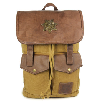 The Walking Dead Sheriff Rick Grime's Desert Brown Backback