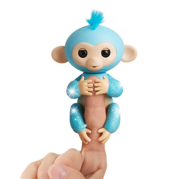 Fingerlings Glitter Monkey - Amelia (Turquoise Blue Glitter)
