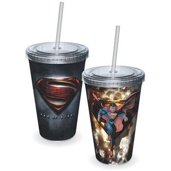 Superman Man of Steel Movie Logo Acrylic Travel Cup