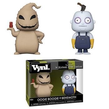 Nightmare Before Christmas Oogie Boogie and Behemoth Vynl. Figure 2-Pack