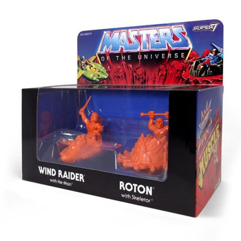 Masters of the Universe M.U.S.C.L.E. Wind Raider and Roton - Orange