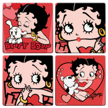 Betty Boop Coaster 4-Pack