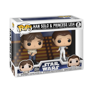 Star Wars: Empire Strikes Back Han and Leia Pop! Vinyl Figure 2-Pack