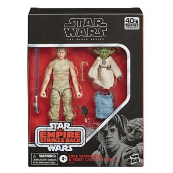 Star Wars The Black Series Luke Skywalker and Yoda (Jedi Training) 6-Inch Action Figures