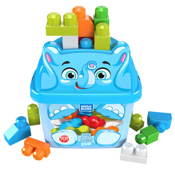Mega Bloks First Builders Jolly Elephant with Big Building Blocks