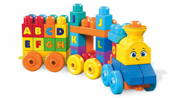 Mega Bloks First Builders ABC Musical Train with Big Building Blocks