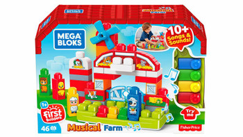 Mega Bloks First Builders Musical Farm with Big Building Blocks