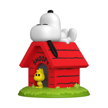 Funko Peanuts Snoopy on Doghouse Deluxe Pop! Vinyl Figure
