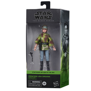 Star Wars The Black Series Princess Leia Organa (Endor Battle Poncho) 6-Inch Action Figure
