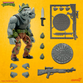 [PRE-ORDER] Super7 Teenage Mutant Ninja Turtles Ultimates Rocksteady 7-Inch Action Figure