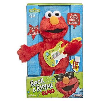 Sesame Street Rock and Rhyme Elmo Talking, Singing 14-Inch Plush Toy