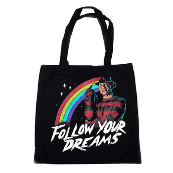 Nightmare On Elm Street Follow Your Dreams Canvas Tote