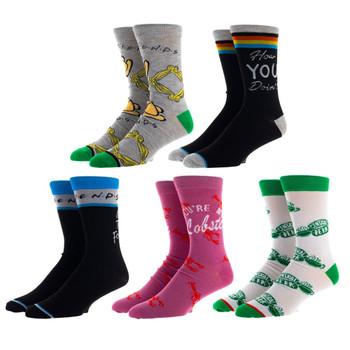 Friends 5 Pair Crew Socks