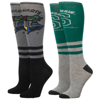 Harry Potter Slytherin 2 Pair Knee High Socks