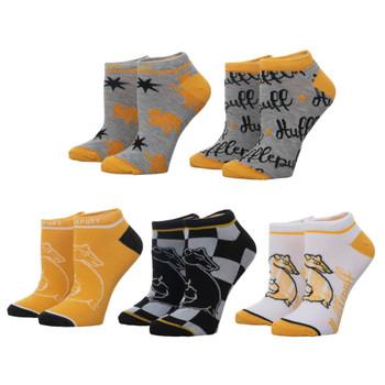 Harry Potter Hufflepuff 5 Pair Ankle Socks